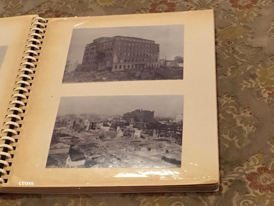 空襲の後の綿業会館