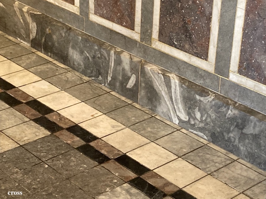 中央公会堂大理石の床